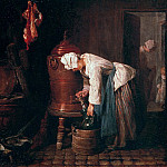Woman drawing water from an urn, Jean Baptiste Siméon Chardin