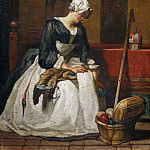 The Embroiderer, Jean Baptiste Siméon Chardin