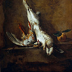 Dead hare with red partridge, Jean Baptiste Siméon Chardin