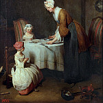 Dinner prayer, Jean Baptiste Siméon Chardin