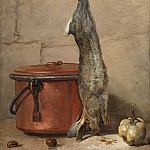 Rabbit and Copper Pot, Jean Baptiste Siméon Chardin