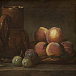 Fruit, Jug, and a Glass, Jean Baptiste Siméon Chardin