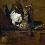 Huppoe, partridge, woodcock and pomegranate, Jean Baptiste Siméon Chardin