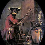 The Monkey Painter, Jean Baptiste Siméon Chardin