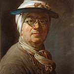 Self-Portrait with a Visor, Jean Baptiste Siméon Chardin