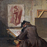 Young Student Drawing, Jean Baptiste Siméon Chardin