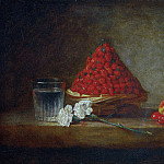 Basket with wild strawberries, Jean Baptiste Siméon Chardin