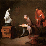 The Drawing Study, Jean Baptiste Siméon Chardin