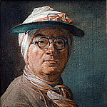 Self-Portrait with an Eyeshade, Jean Baptiste Siméon Chardin