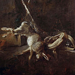 Two hares, a Game Bag and Powder-flask, Jean Baptiste Siméon Chardin