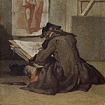 Gustave Courbet - Young Student Drawing