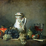 Still Life with Grapes and Pomegranates, Jean Baptiste Siméon Chardin