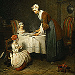 The Prayer before Meal, Jean Baptiste Siméon Chardin