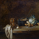 Vegetables for the Soup, Jean Baptiste Siméon Chardin