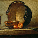 The copper cauldron, Jean Baptiste Siméon Chardin