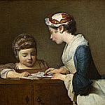 The Little Schoolmistress, Jean Baptiste Siméon Chardin