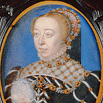 Francois Clouet - Miniature of Catherine de Medici