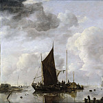 David Klöcker Ehrenstråhl - Harbour Scene with Reflecting Water