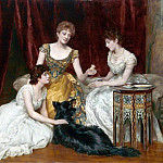 John Collier - The Three Daughters of William Reed