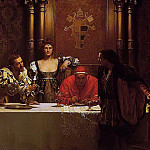 John Collier - A Glass of Wine with Caesar Borgia