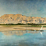 John Collier - Theban Hills from Luxor