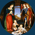 Adoration of the Child with Saint John and Musician Angels