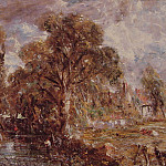 John Constable - Scene on a river