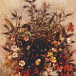 John Constable - autumn berries and flowers in brown pot c1814