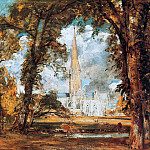John Constable - The cathedral of Salisbury
