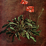 John Constable - Study for poppies
