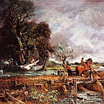 John Constable - THE LEAPING HORSE, 1825, OIL ON CANVAS
