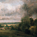John Constable - Higham Village on the River Stour