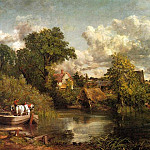 John Constable - THE WHITE HORSE, 1819, OIL ON CANVAS