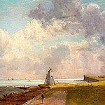 John Constable - HARWICH LIGHTHOUSE, APPROX. 1820, OIL ON CANVAS
