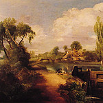 John Constable - Landscape Boys Fishing