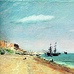 John Constable - BRIGHTON BEACH WITH COLLIERS, 1824, OIL ON PAPER