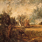 John Constable - Cottage Rainbow Mill