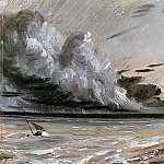 John Constable - Coast scene with breaking cloud