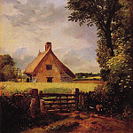 John Constable - A Cottage in a Cornfield