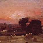 John Constable - A Hayfield at East Bergholt