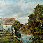 Carl Blechen - Mill by the River Stour