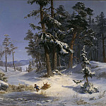 David Klöcker Ehrenstråhl - Winter Landscape from Queen Christina's Road in Djurgården, Stockholm