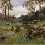 Gustave Courbet - By the Brook in the Forest