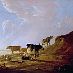 River Scene With Milking Woman, Aelbert Cuyp