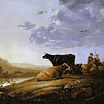 Aelbert Cuyp - Young Herdsman With Cows