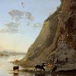 Aelbert Cuyp - River Bank With Cows