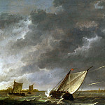 the Maas at Dordrecht in a storm, Aelbert Cuyp