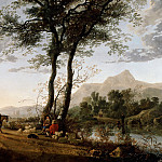 Aelbert Cuyp - A Road Near A River