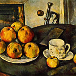 Paul Cezanne - STILL LIFE WITH APPLES,1890-94, PRIVATE,USA
