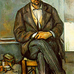 Paul Cezanne - SEATED PEASANT,1895-90, PHILADELPHIA MUSEUM OF ART